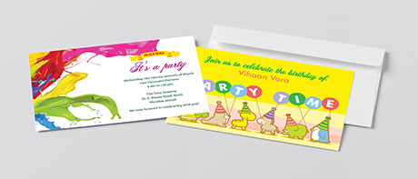 Party invitations for special events